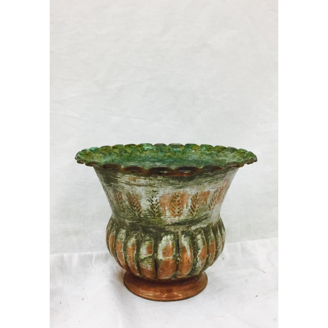 Antique Indian Etched Copper Vase For Sale - Image 10 of 10
