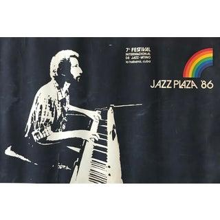 1986 Cuban Jazz Poster, Jazz Plaza '86 La Havana (Horizontal) For Sale