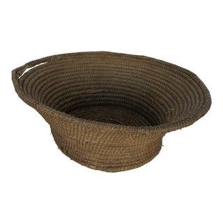 Antique French Round Gathering Basket Large