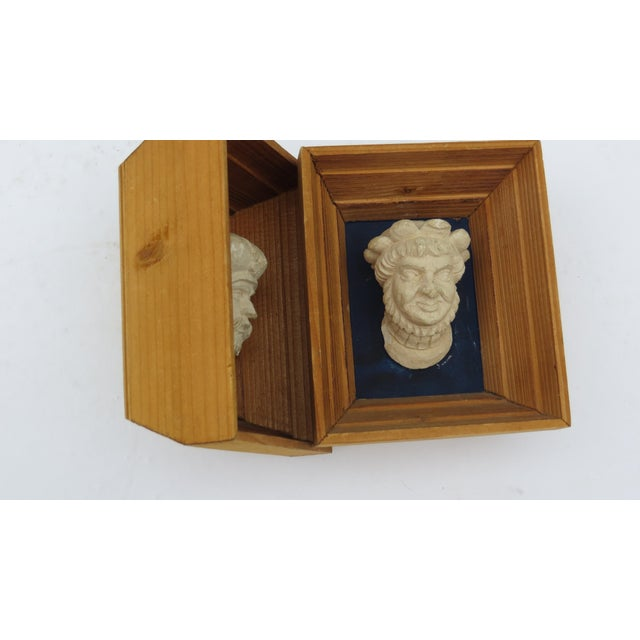 Traditional Vintage Souvenir Framed Busts - A Pair For Sale - Image 3 of 7
