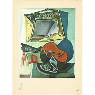 1943 Picasso, Original Large Nature Morte a La Guitare Lithograph For Sale