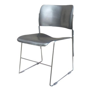 David Rowland 40/4 Steel Stackable Chairs For Sale