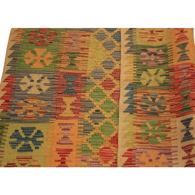 2010s Kilim Arya Romilly Ivory/Blue Wool Rug -3'7 X 7'2 For Sale - Image 5 of 8