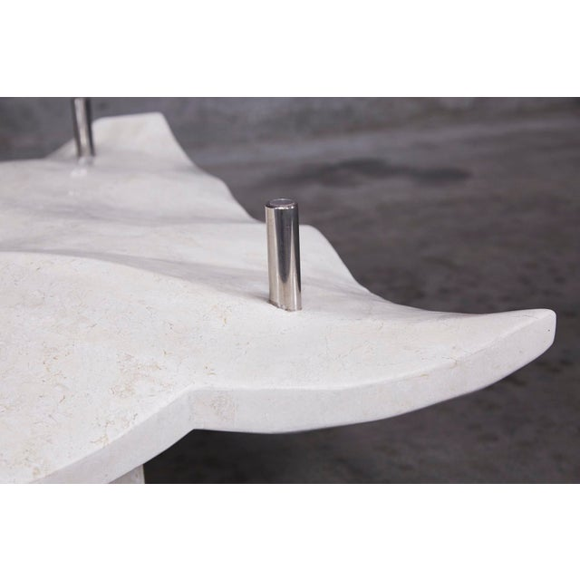 """1990s Post-Modern Tessellated Stone """"Chiseled"""" Cocktail Table For Sale - Image 9 of 13"""