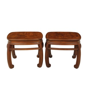Mahogany Ming End Tables - a Pair