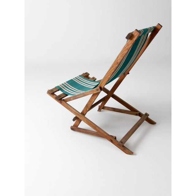 Vintage American Deck Chair For Sale - Image 5 of 9