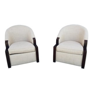 Milo Baughman for Thayer Coggin Club Chairs - a Pair For Sale