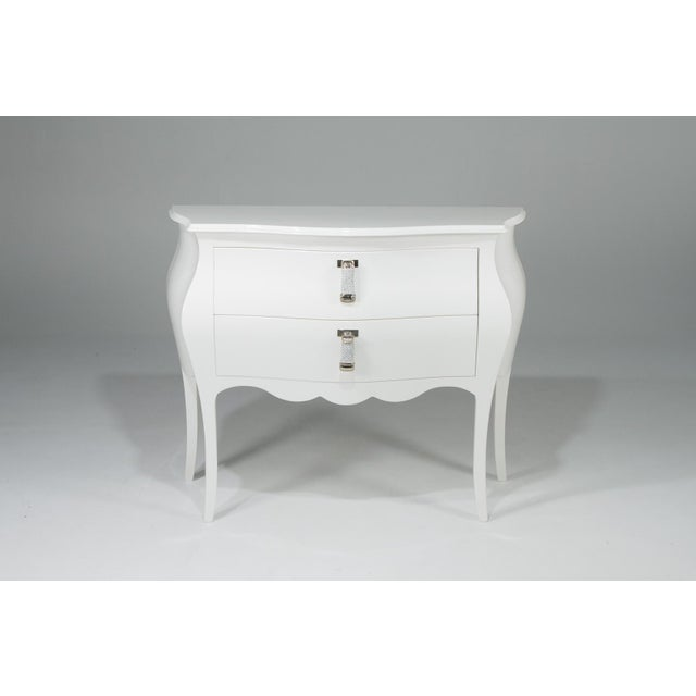 1990s Hollywood Regency Fendi Moviestar Glamorous White Lacquer Commode For Sale - Image 12 of 12