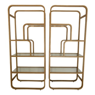 1970s Organic Modern Bent Plywood Shelves - a Pair For Sale