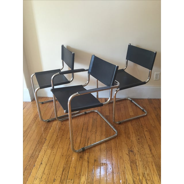 Vintage Cantilever Dining Chairs - 3 - Image 2 of 4