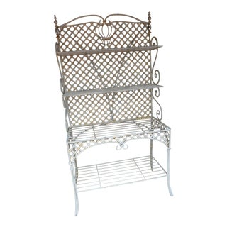 French Style Cast Iron Cream Shelving For Sale