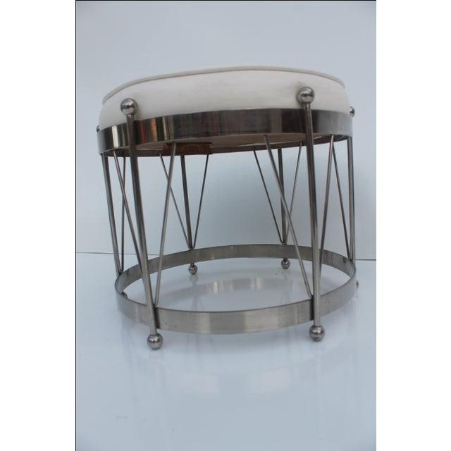 George Koch Mid-Century Vinyl & Chrome Drum Stool For Sale - Image 10 of 11