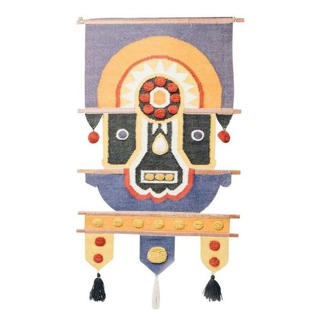Aztec Inspired Wool Wall Hanging For Sale