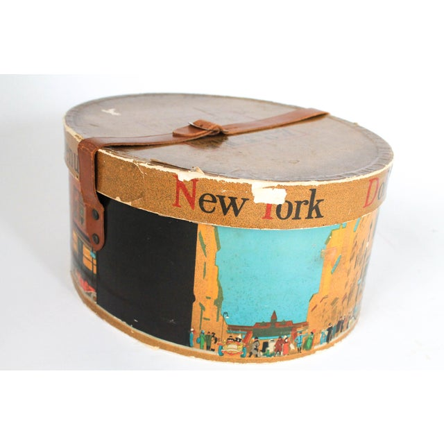 1940s Dobbs Fifth Avenue New York Hat Box For Sale - Image 5 of 8