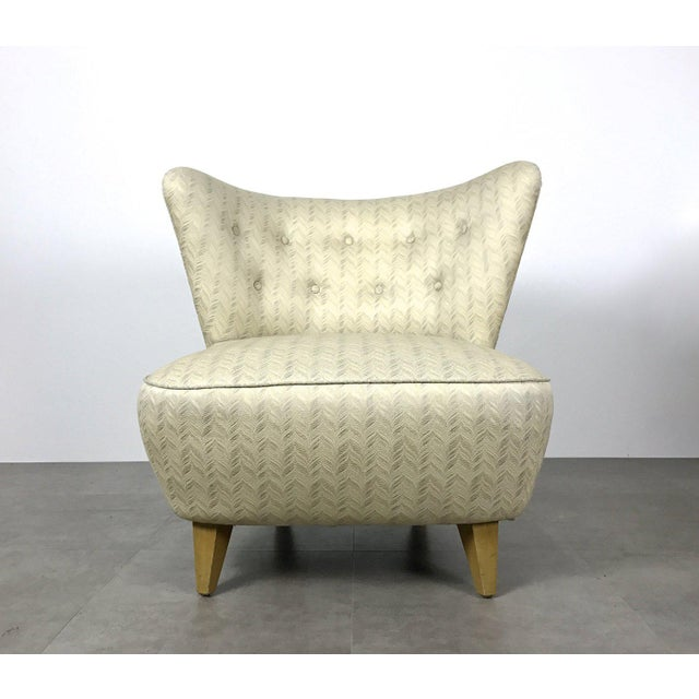 Art Deco Vintage Gilbert Rohde Style Wingback Slipper Lounge Chair For Sale - Image 3 of 6