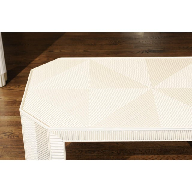 1970s Bamboo Marquetry Coffee Table or Bench For Sale - Image 9 of 13