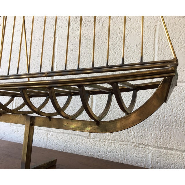 Brass C.Jere Brass Schooner Ship Sculpture For Sale - Image 7 of 11