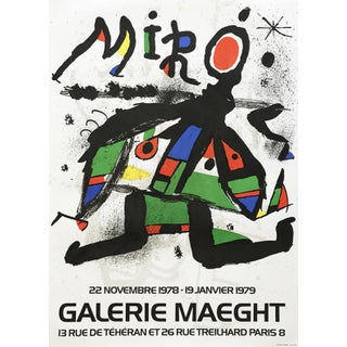 1978 Joan Miro Exposition Original Lithograph Poster For Sale