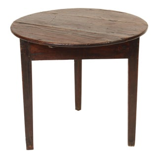 19th Century English Oak Cricket Table For Sale