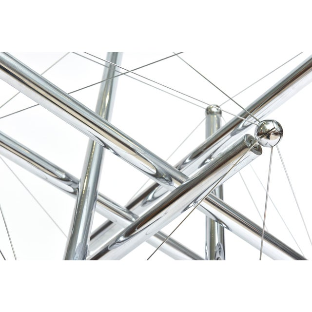 Abstract Italian Modern Polished Chrome Low Table, Theodore Waddell for Cassina For Sale - Image 3 of 9