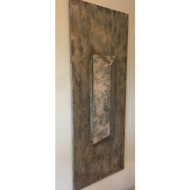 Contemporary Metallic Modern Wall Sculpture For Sale - Image 3 of 4