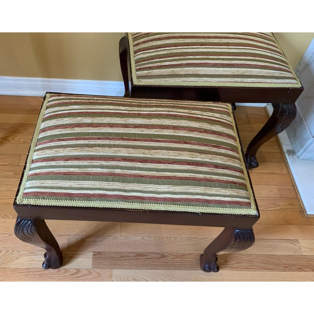 Traditional 19th Century Vintage George III Style Stools- A Pair For Sale - Image 3 of 5