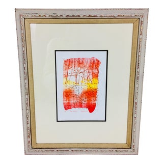 Late 20th Century Framed Lithograph Print For Sale