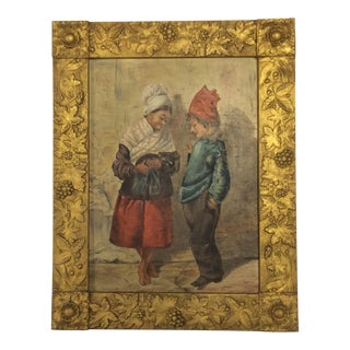 Vintage Italian Grand Tour O/B Painting For Sale