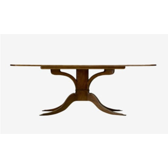 Traditional Pickwick Mahogany Dining Table For Sale - Image 3 of 7