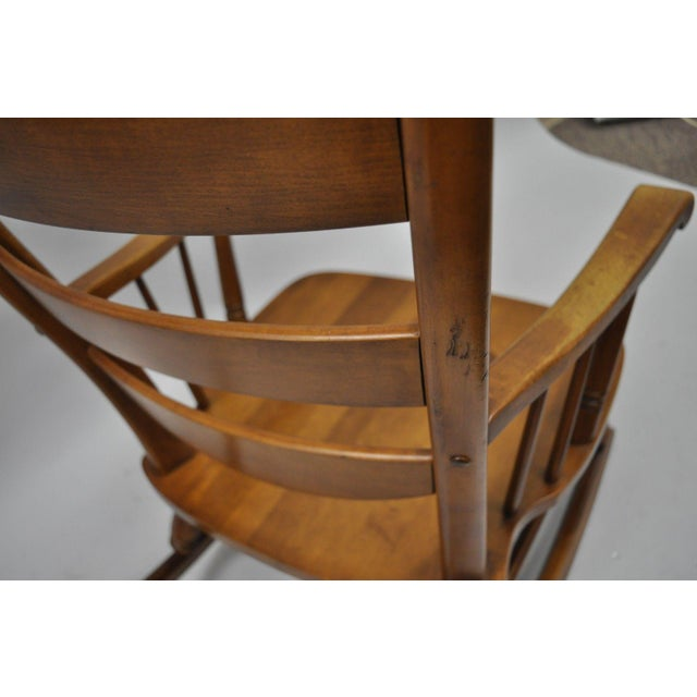 Mid-Century Tell City Maple Sculptural Ladder Back Rocking Chair For Sale - Image 9 of 11