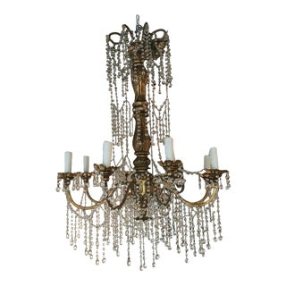 19th Century Hollywood Regency Genovese Giltwood Chandelier For Sale