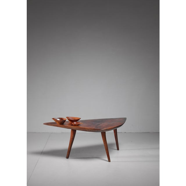 Mid-Century Modern Emil Milan Freeform root wood coffee table, USA, 1960s For Sale - Image 3 of 9