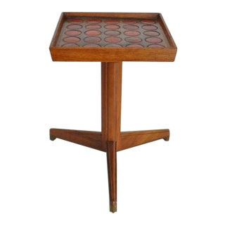 1950s Vintage Edward Wormley for Dunbar Natzler Tile Top Drink Stand For Sale