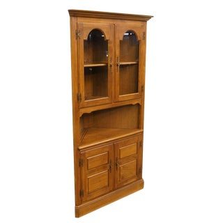 Heywood Wakefield Colonial Style Corner Bookcase For Sale