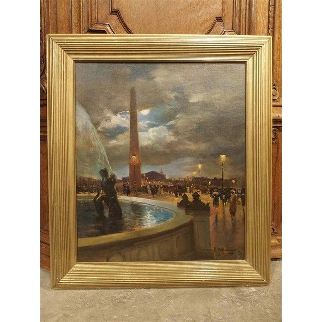 """""""Evening at La Place De La Concorde, Paris"""" Painting by Paul Balmigere (1882-1953) For Sale - Image 13 of 13"""