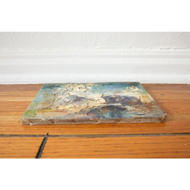 Abstract 1969 Vintage Abstract Landscape Oil Painting, Signed Bolha For Sale - Image 3 of 5