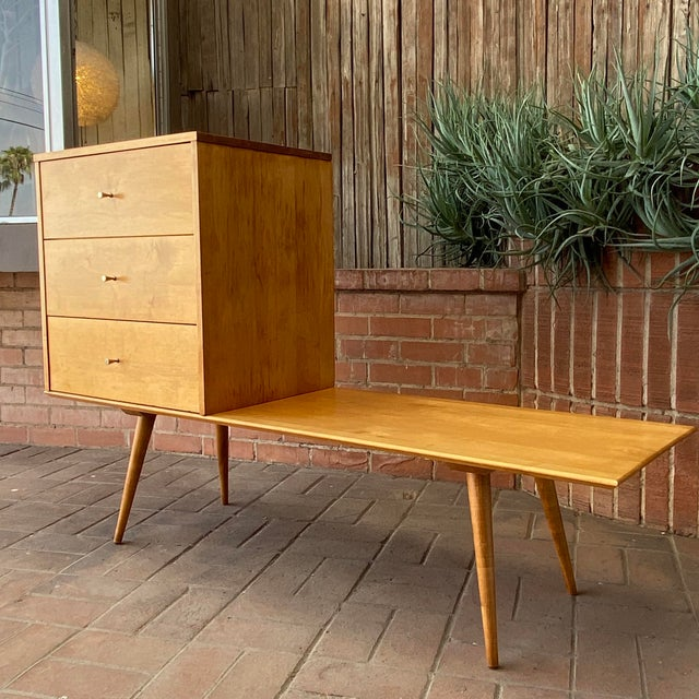 Mid-Century Modern Paul McCobb Planner Group by Winchendon Modular Cabinet and Bench For Sale - Image 13 of 13