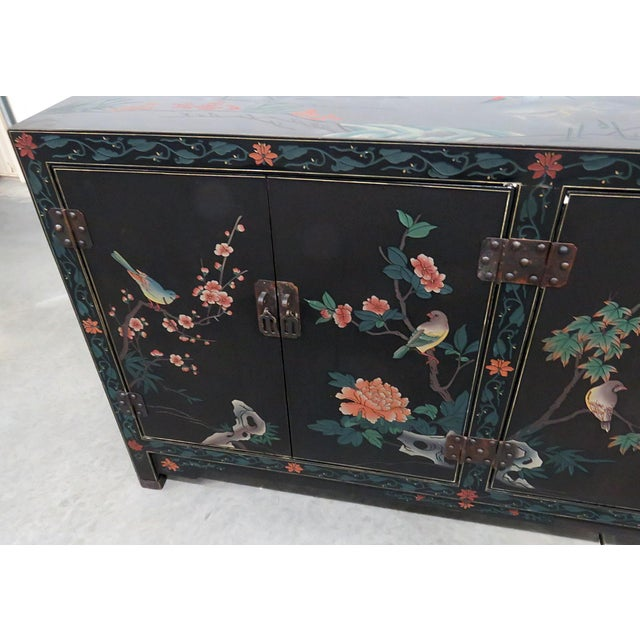Asian Asian Paint Decorated Cabinet For Sale - Image 3 of 11