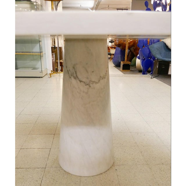 Angelo Mangiarotti Angelo Mangiarotti Marble Round Dining Table, 1970s For Sale - Image 4 of 6