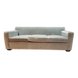 Green Upholstered Sofa For Sale