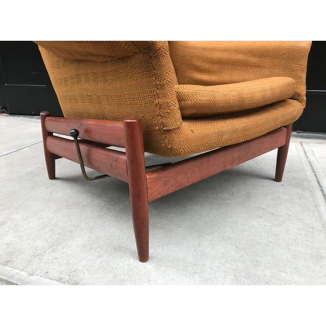 Povl Dinesen Povl Dinesen Danish Modern Lounge Chair and Ottoman For Sale - Image 4 of 4