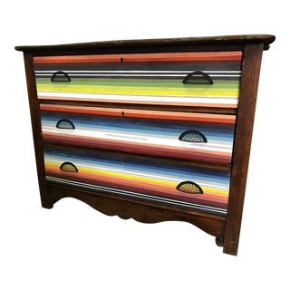 "Antique Oak ""Serape"" Dresser/Chest For Sale"