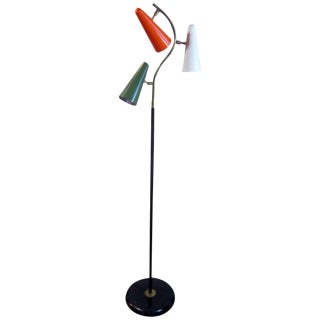 1950's Italian Mid-Century Stilnovo Style Multi-Colored Floor Lamp