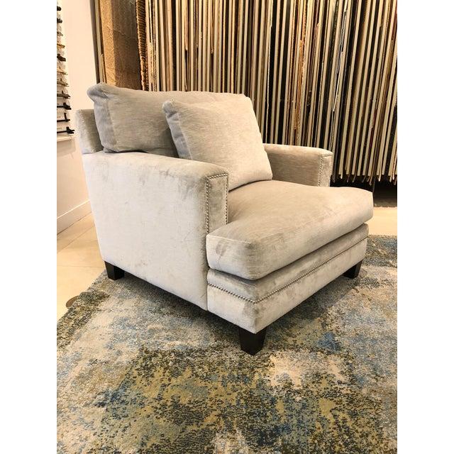Linen Velvet Gramercy Chair For Sale - Image 4 of 10