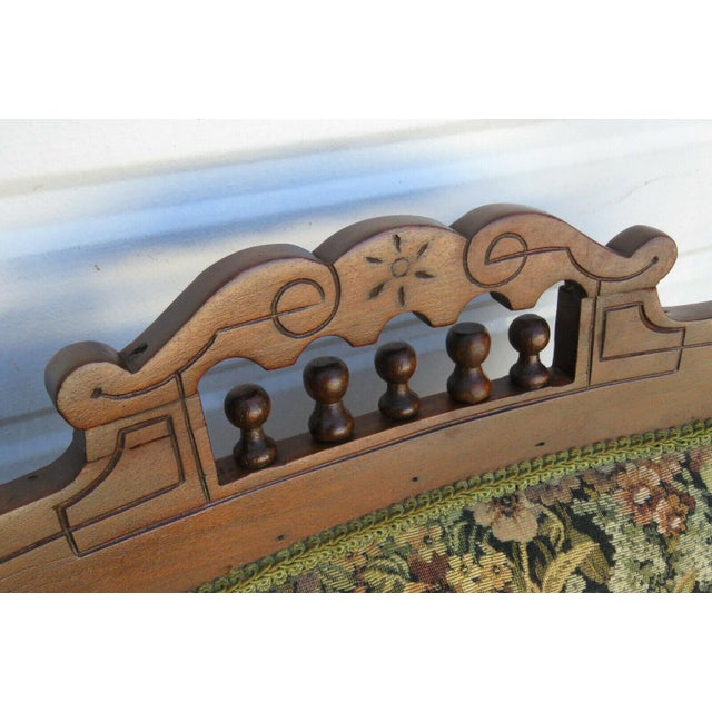 Late 19th Century 19th Century Victorian Carved Side Rocking Chair For Sale - Image 5 of 11