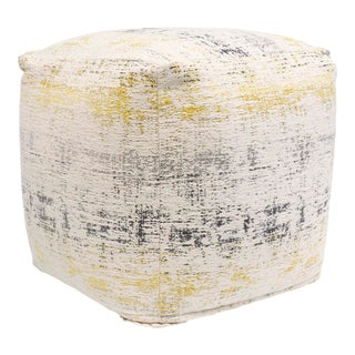 Pasargad Grand Canyon Distressed Cotton Pouf For Sale