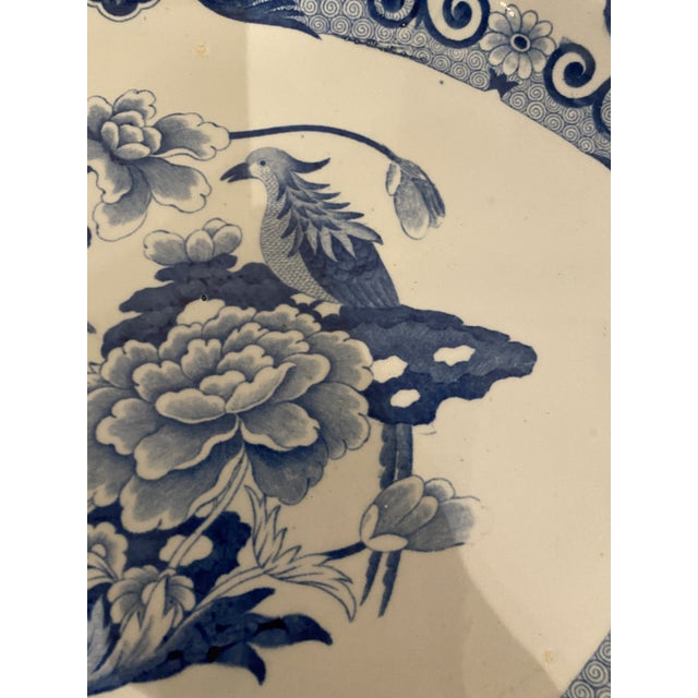 Staffordshire Antique Mason's Staffordshire Blue and White Platter For Sale - Image 4 of 9