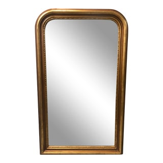 Large Louis Philippe Style Gilded Mirror For Sale