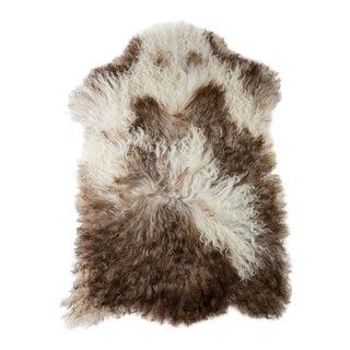 "Contemporary Long Wool Sheepskin Pelt/Handmade Rug - 2'1""x3'3"" For Sale"