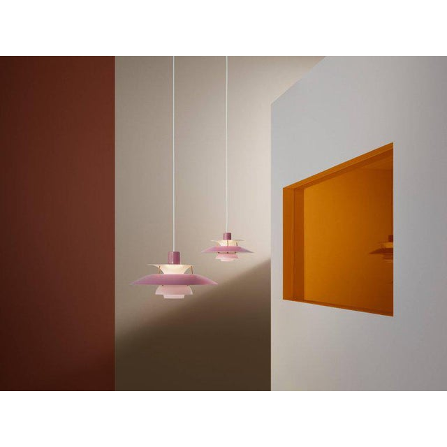 Poul Henningsen Ph 5 Pendant for Louis Poulsen in Red For Sale - Image 10 of 13